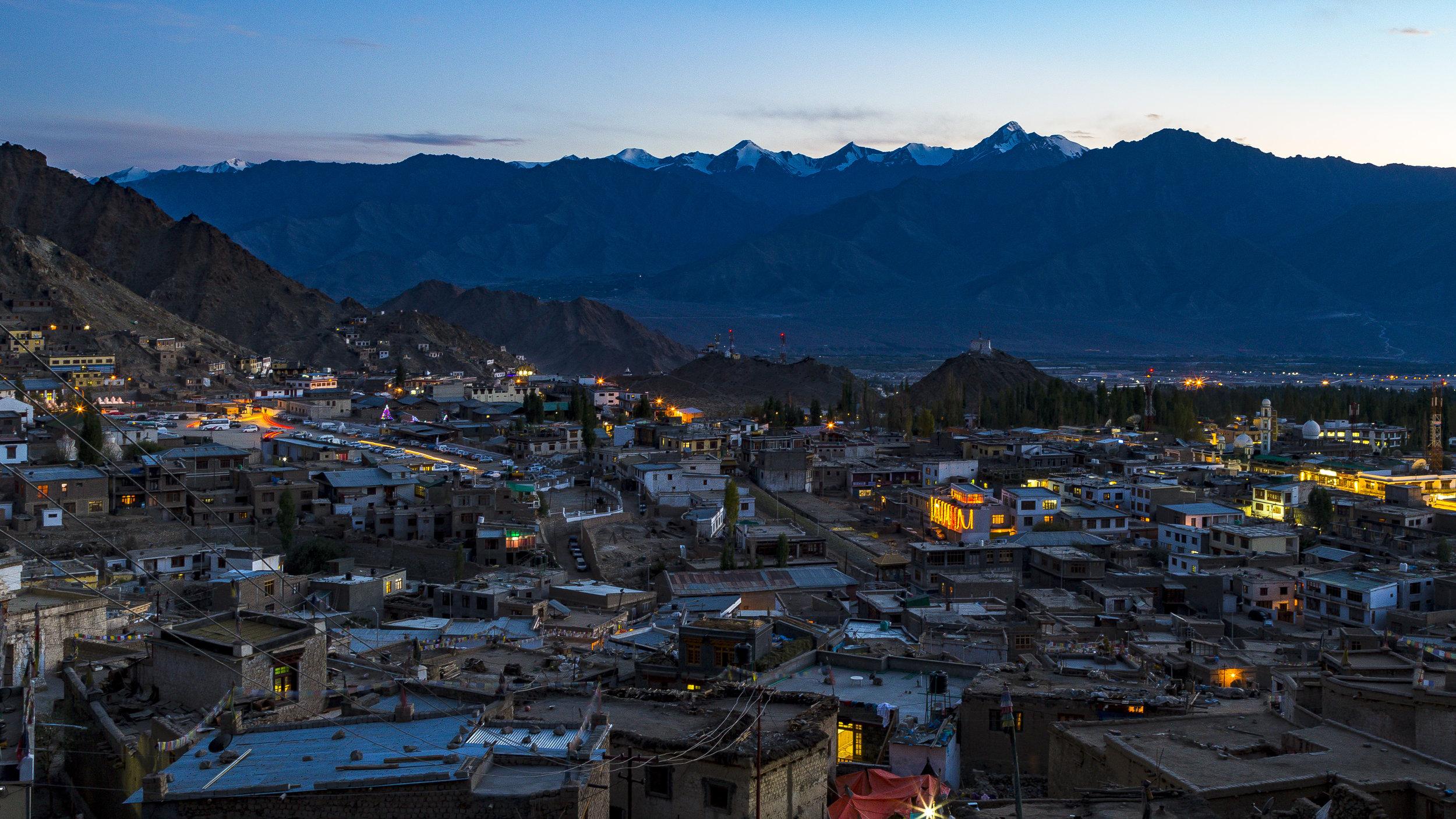 Leh Town at dusk