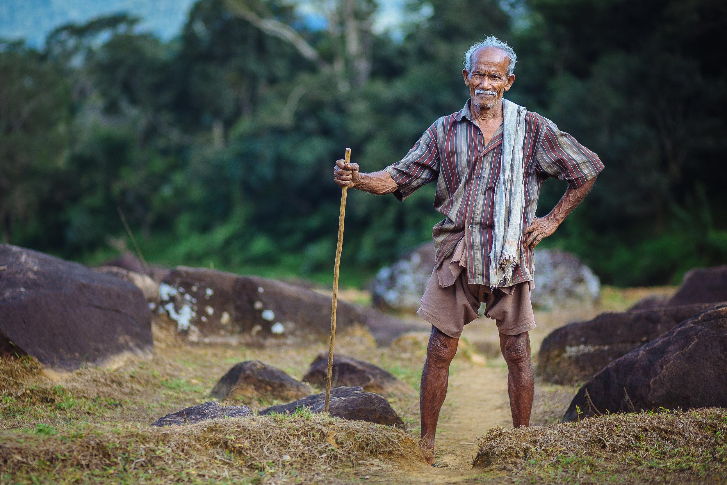 Farmer in Meemure, a rural village deep inside the knuckles moun