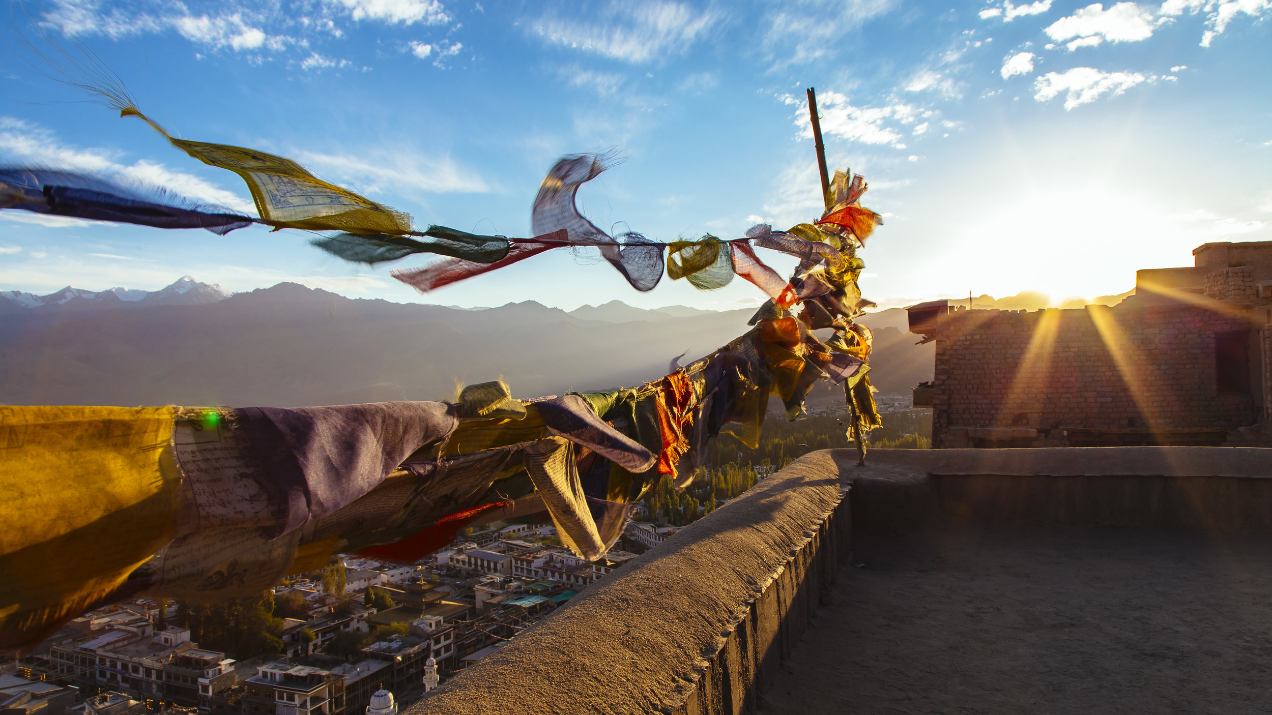 A Himalayan Sunset in Leh city - Ladakh, India.