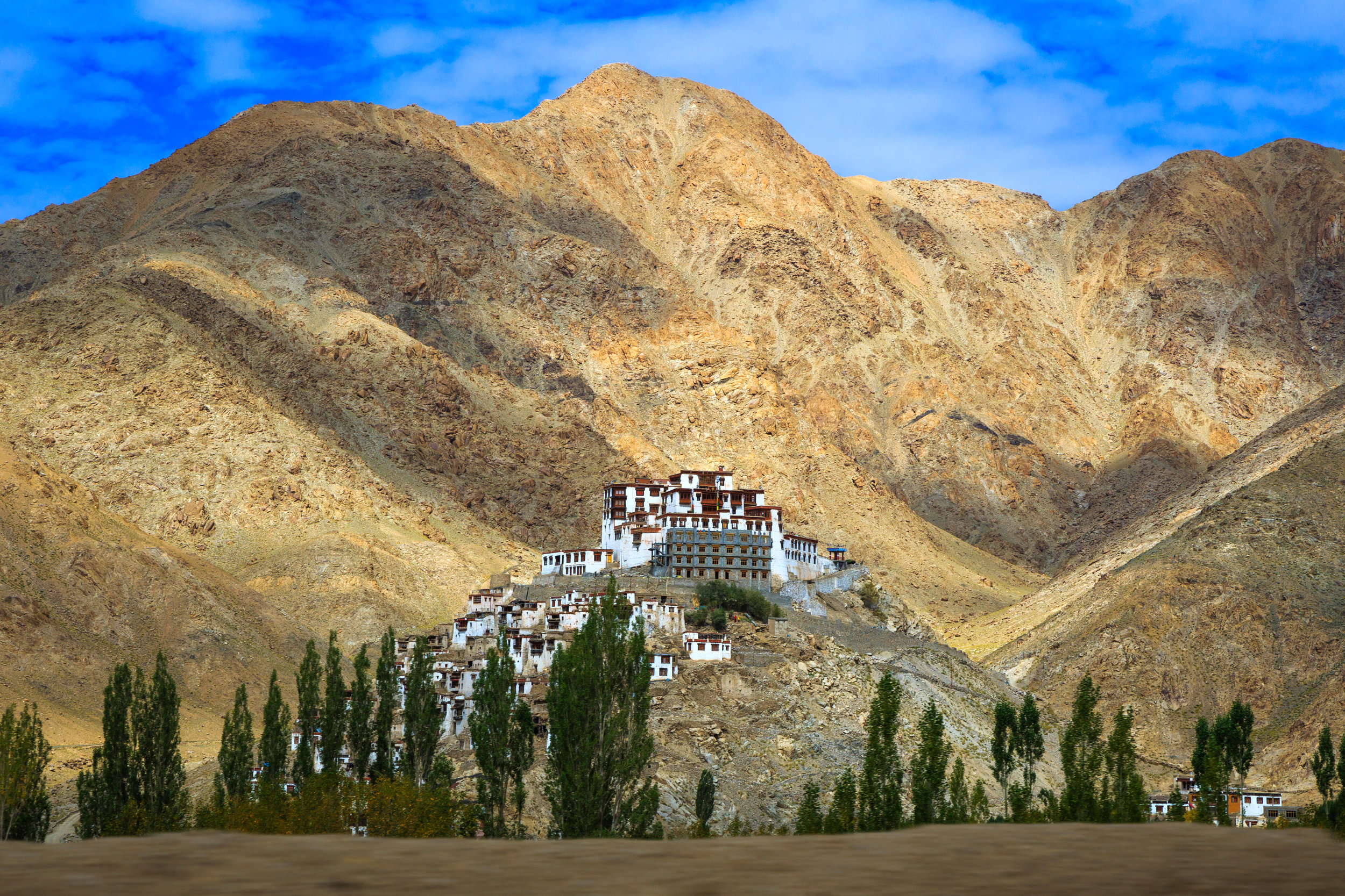 Thiksey Monastery complex in Ladakh - India