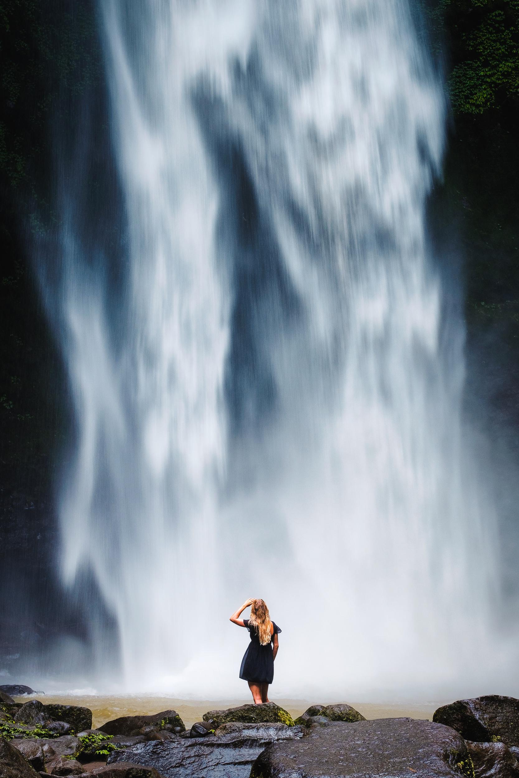 Nung Nung waterfall in Bali - Indonesia.  Fujifilm X-E3 + Fujinon XF 80mm f/2.8 R LM WR OIS Macro  1/30sec, f/9.0, ISO 320