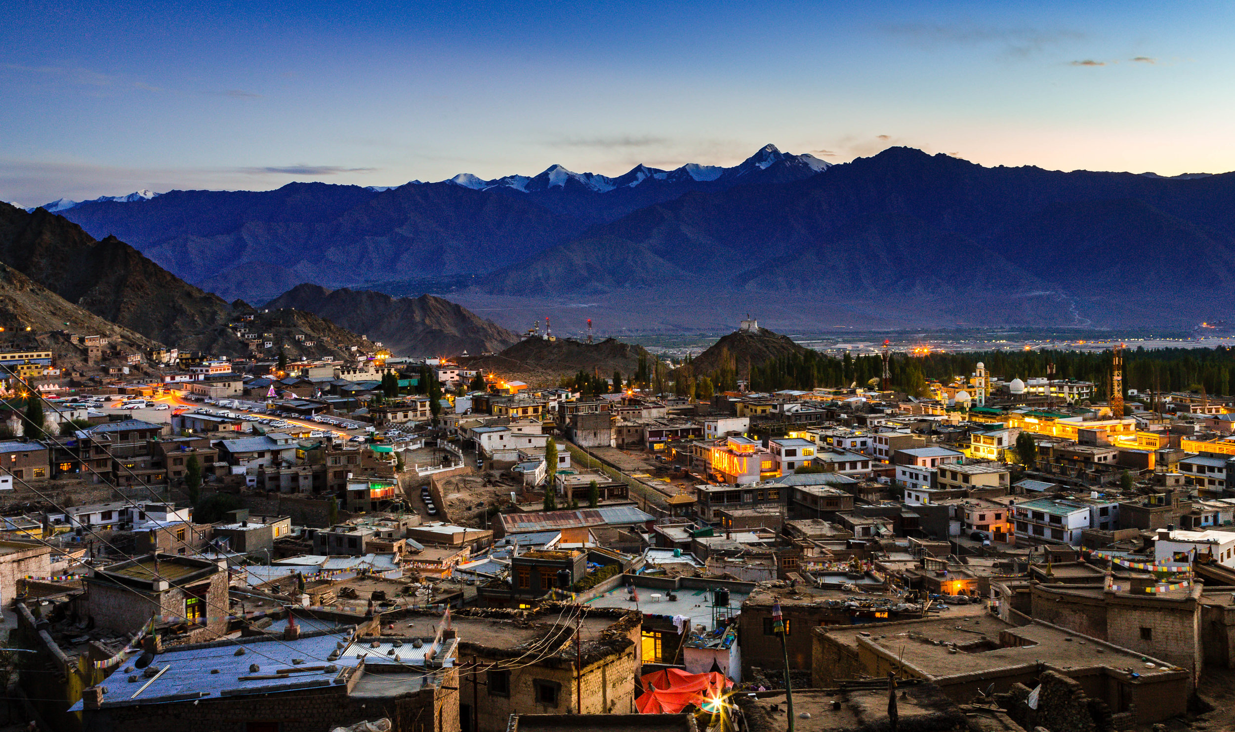 Leh Town in Himalayan Kingdom of Ladakh- India. Enhance Details applied.
