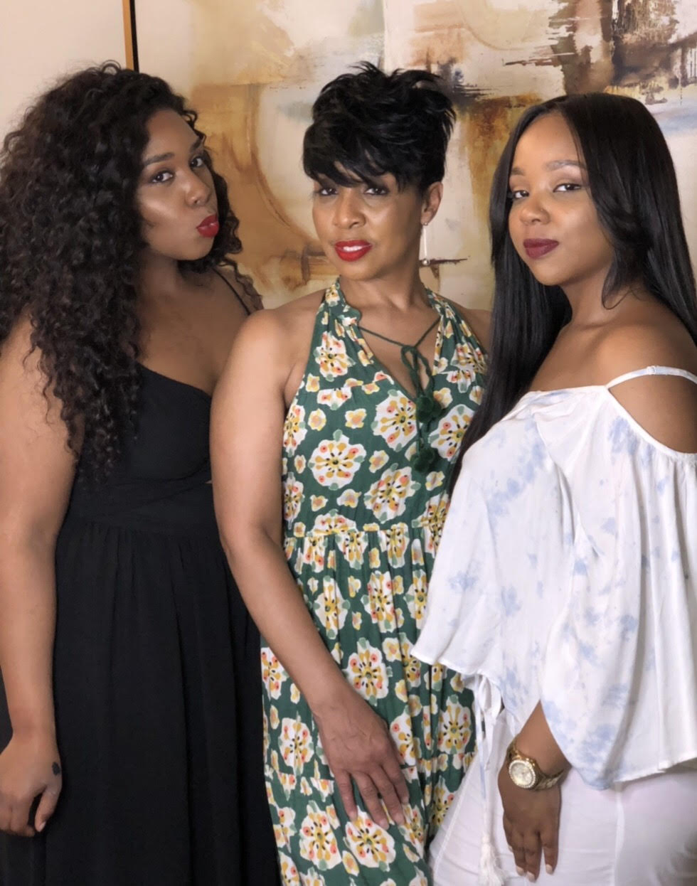 (right to left) Breanna, Her mother (Glenda Curtis), and Sister (Sonya) plan to open a hair salon offering the Total Beauty experience in the near future.
