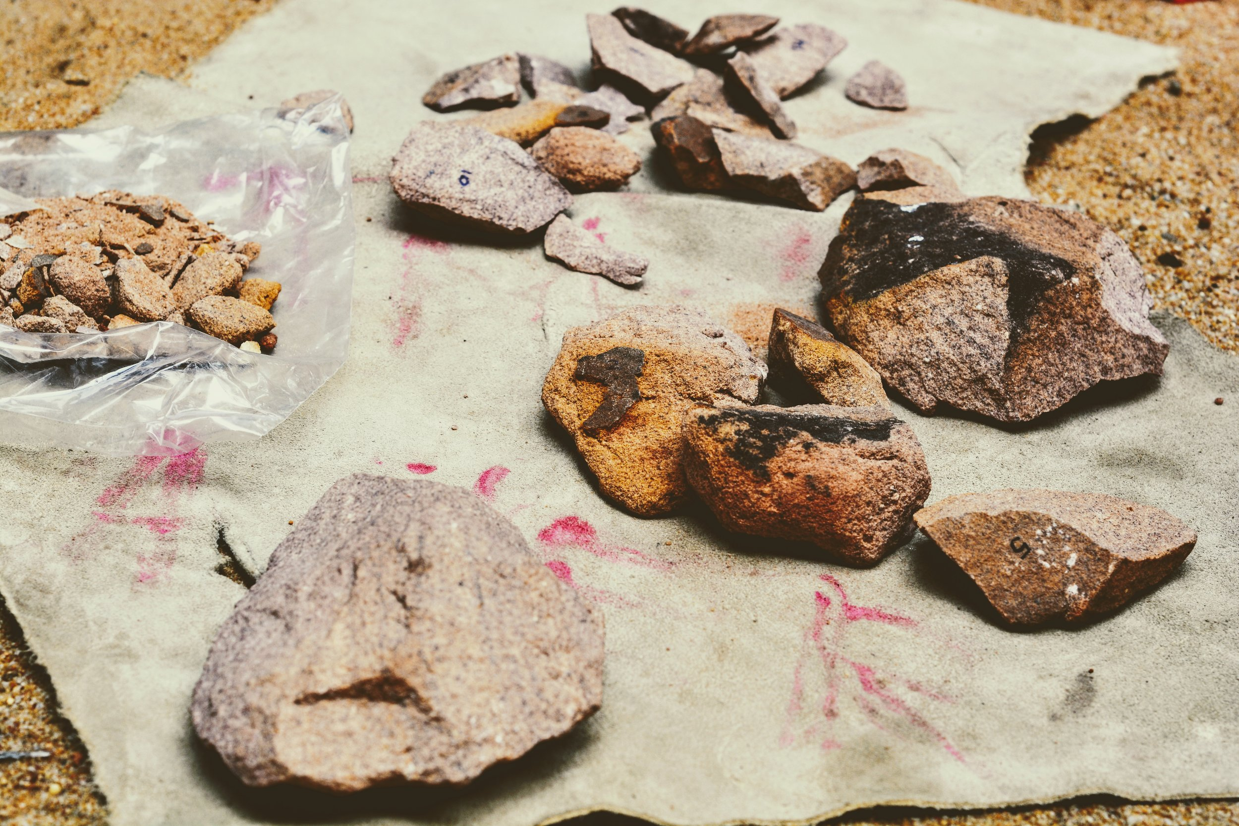 The flakes of a stone tool could serve as a sharp blade or help piece the jigsaw puzzle of a missing tool.
