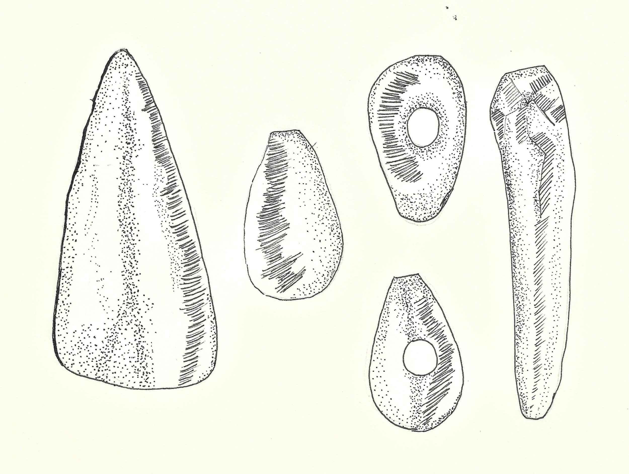 Copy of Copy of Neolithic tools or new stone age tools were polished and smoother and often attached to a piece of wood to make what is called a composite tool.