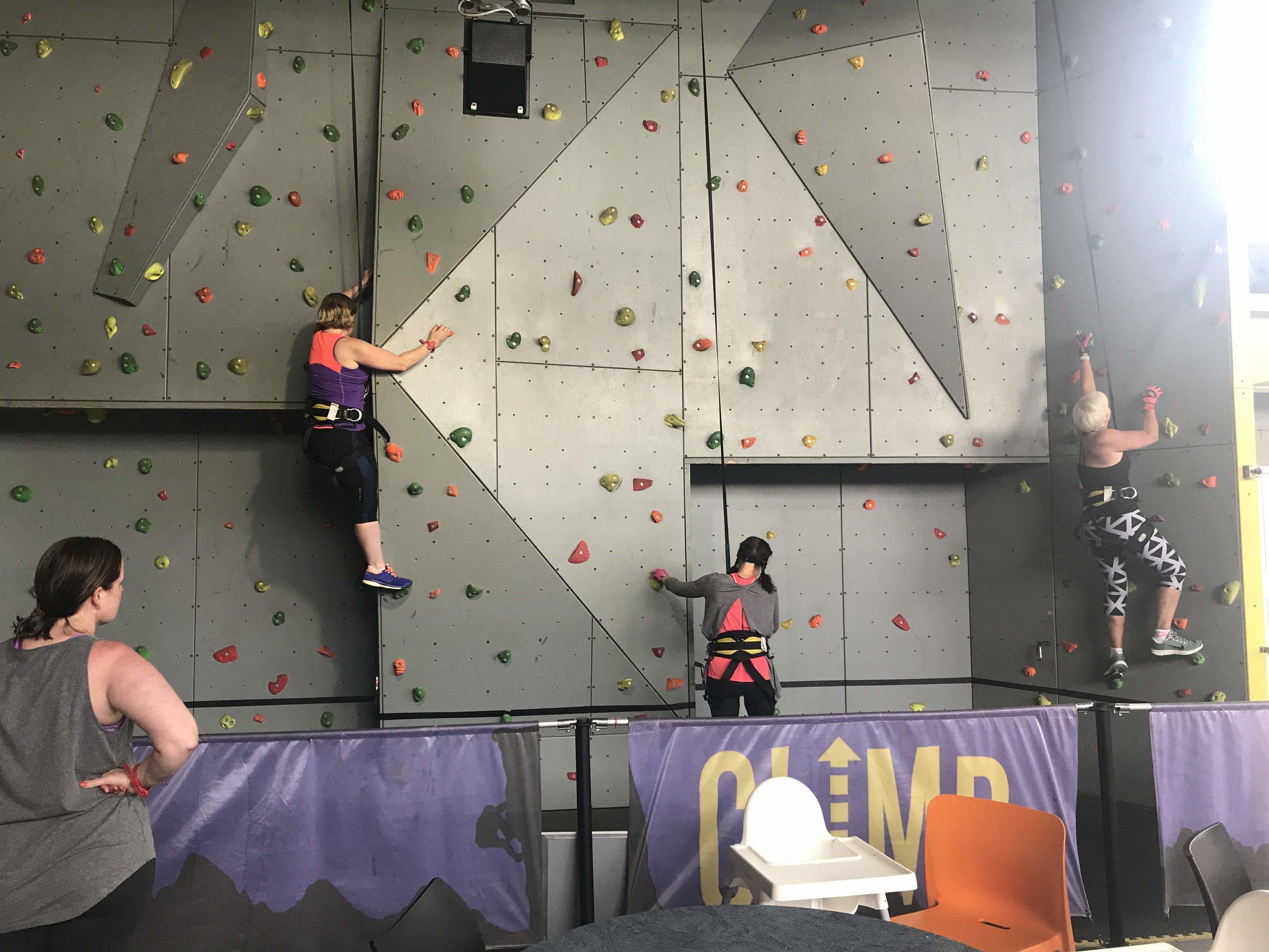 Wall climbing at twinwoods
