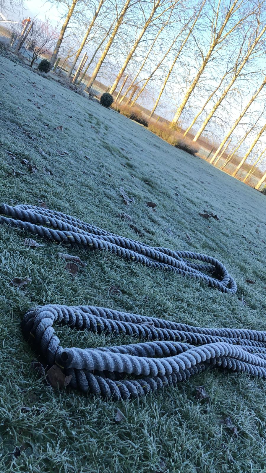 battleropes on a frosty reboot morning