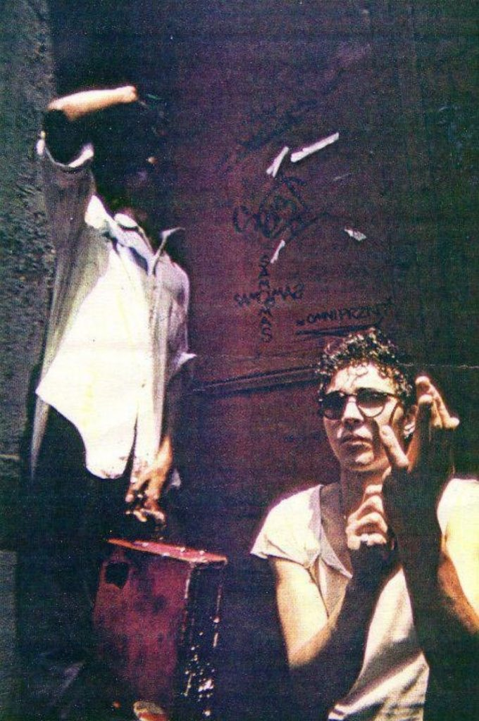Basquiat (left) and Diaz (right) tagged together throughout the late 1970s.