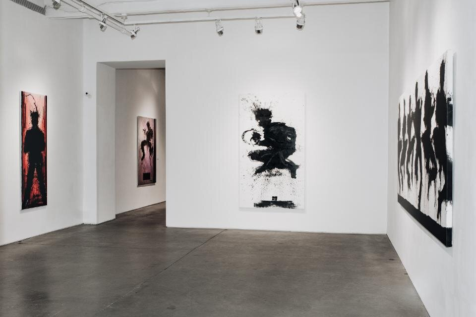 """Richard Hambleton: SHADOWMAN"" Installation view."