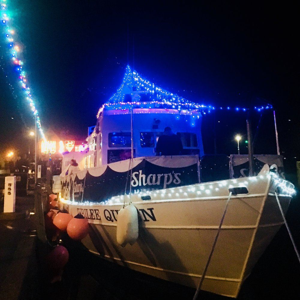 All lit up for Christmas on the Jubilee Queen!
