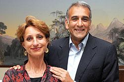 Cinzia et Ylias Akbaraly