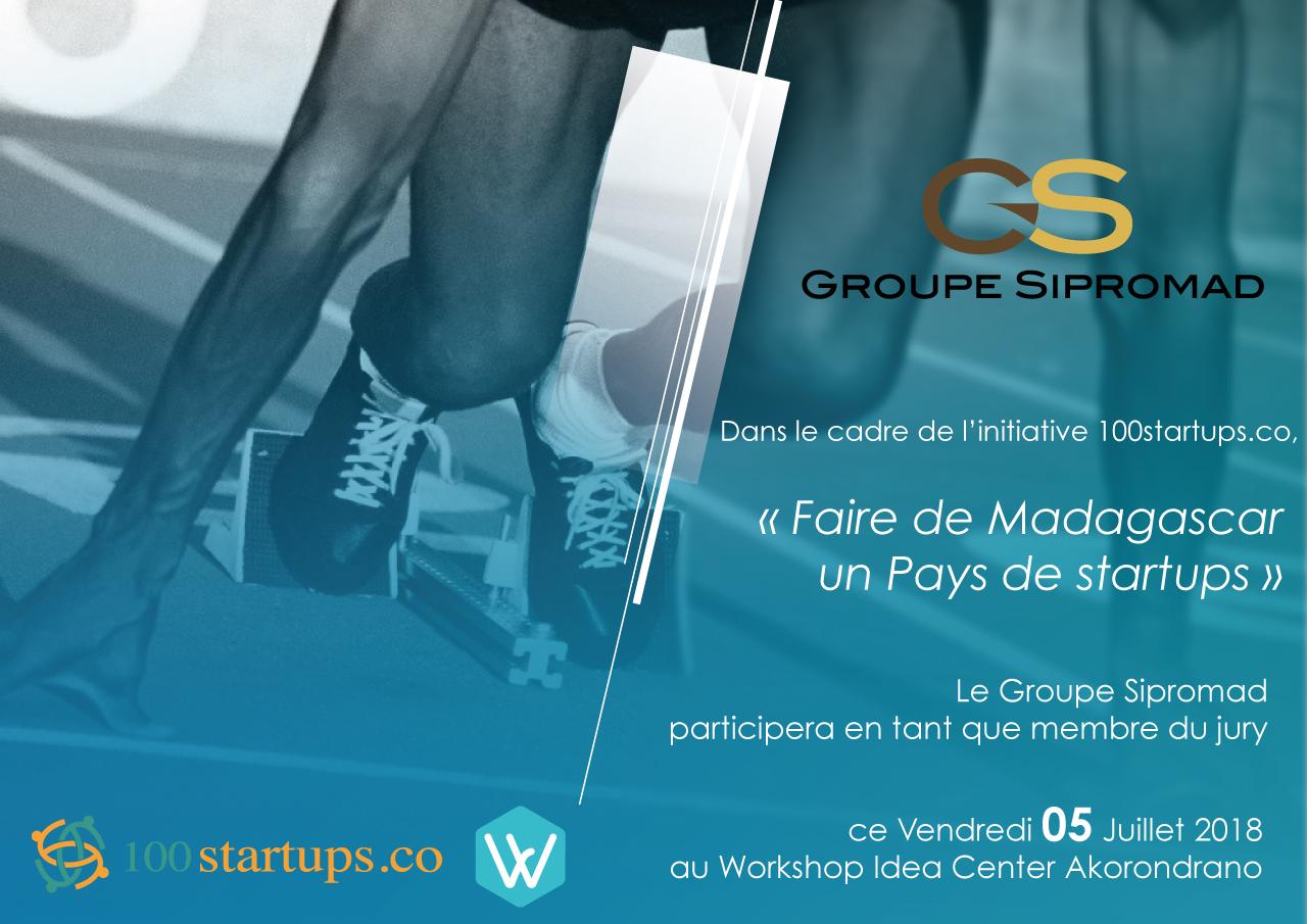 Le Groupe Sipromad sera membre du jury durant l'évènement du 100startups.co