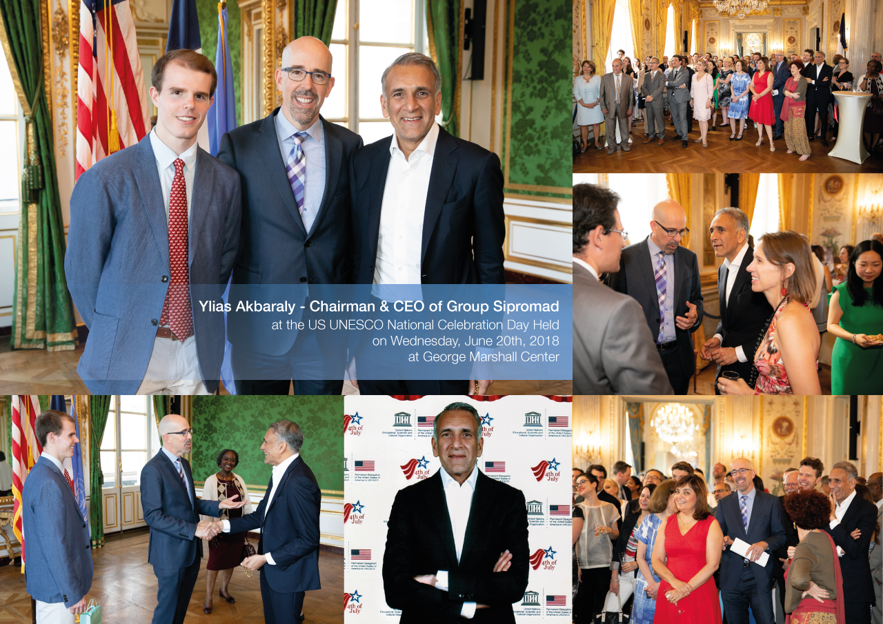 Ylias Akbaraly - Chairman & CEO of Group Sipromad at the US UNESCO National Celebration Day Held on Wednesday, June 20th, 2018 at George Marshall Center