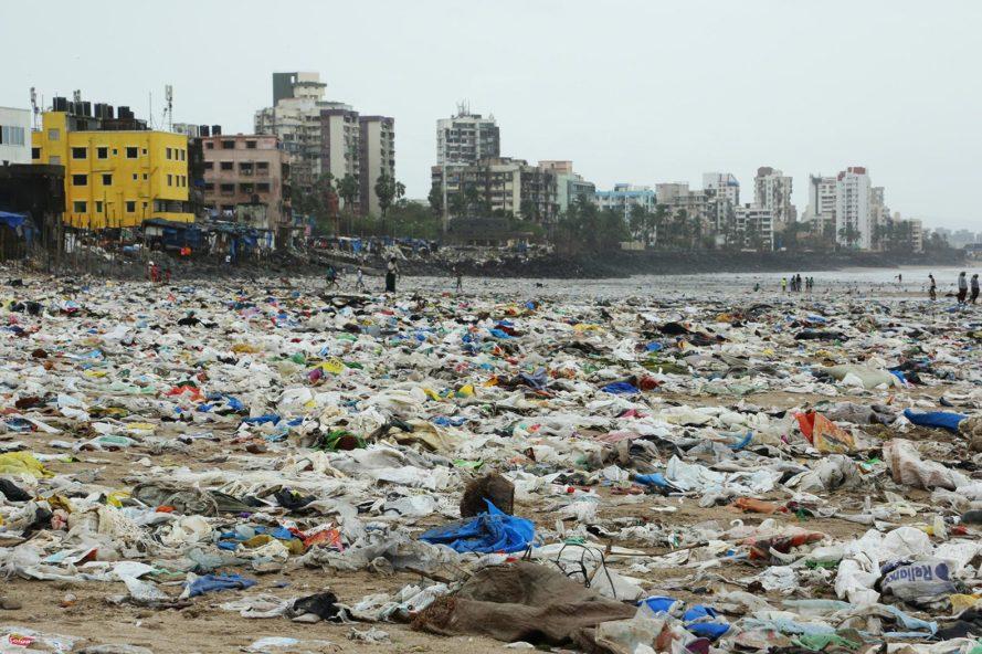 - Plastic pollution in Indonesia.