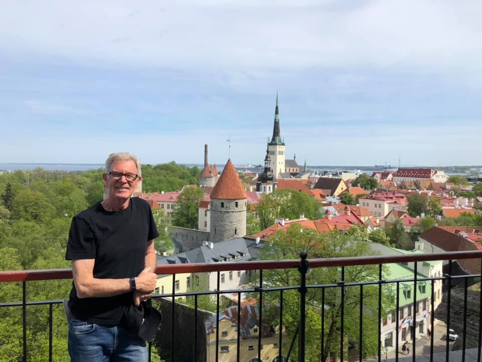 Eric Morrison enjoying the spectacular view of the Old Town in Tallinn. May 2019