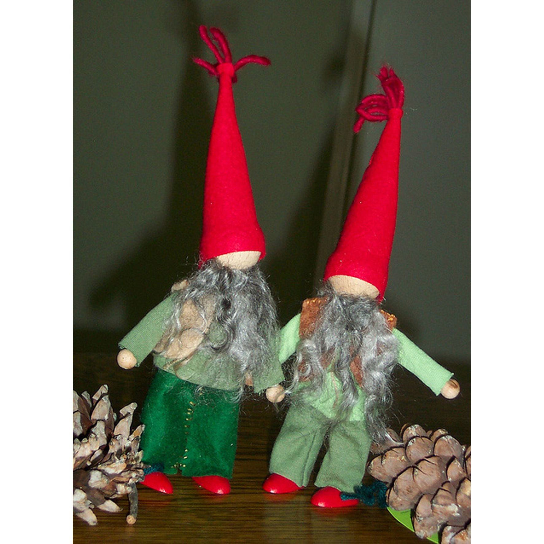 Pine Cone and Pepper Pot the Gnomes