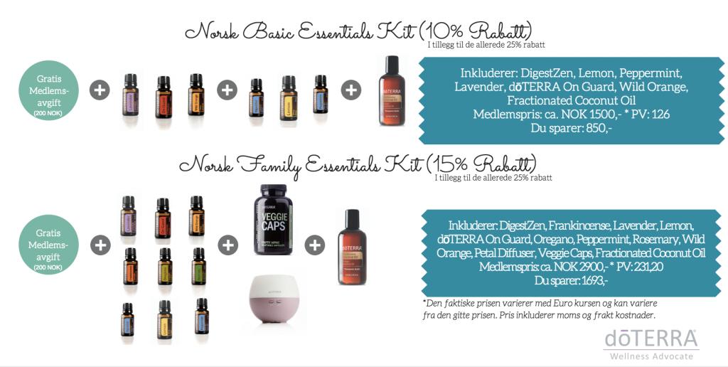 Hvilken pakke passer best for deg? Vil du starte med basics eller alle oljene og diffuser?