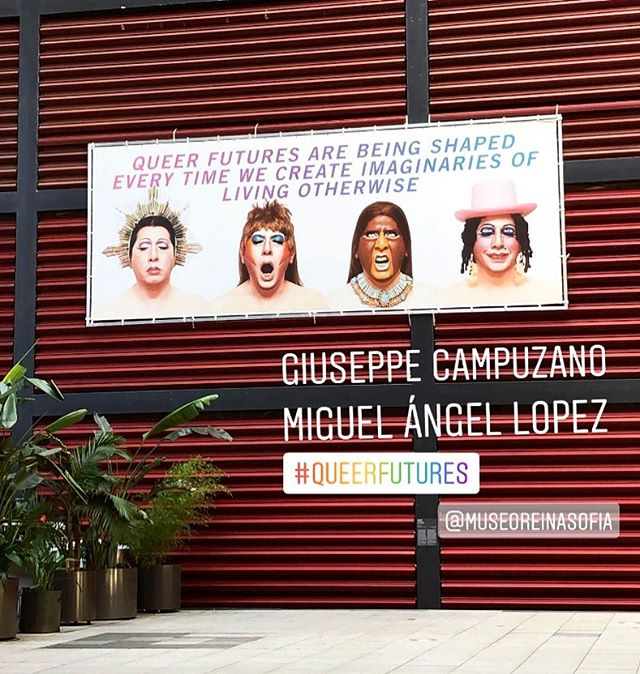 #queerfutures  #salondebelleza  @museoreinasofia . .. ... By #dragperformer #philosopher GIUSEPPE CAMPUZANO & MIGUEL A LÓPEZ  Creators of the #museotravestidelperu back in 2003 . .. . .. . .. . #museoreinasofia #contemporaryart #giuseppecampuzano #artecontemporaneo #miguelangellopez #queer #queerart #drag #dragqueen #dragartist #lgtbq #performance #museumtour #museum #artadvisor #peru #southamerica #camila_art_world #arthistorian
