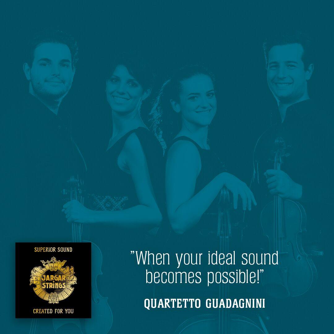Il Quartetto Guadagnini suona con corde della Jargar Strings