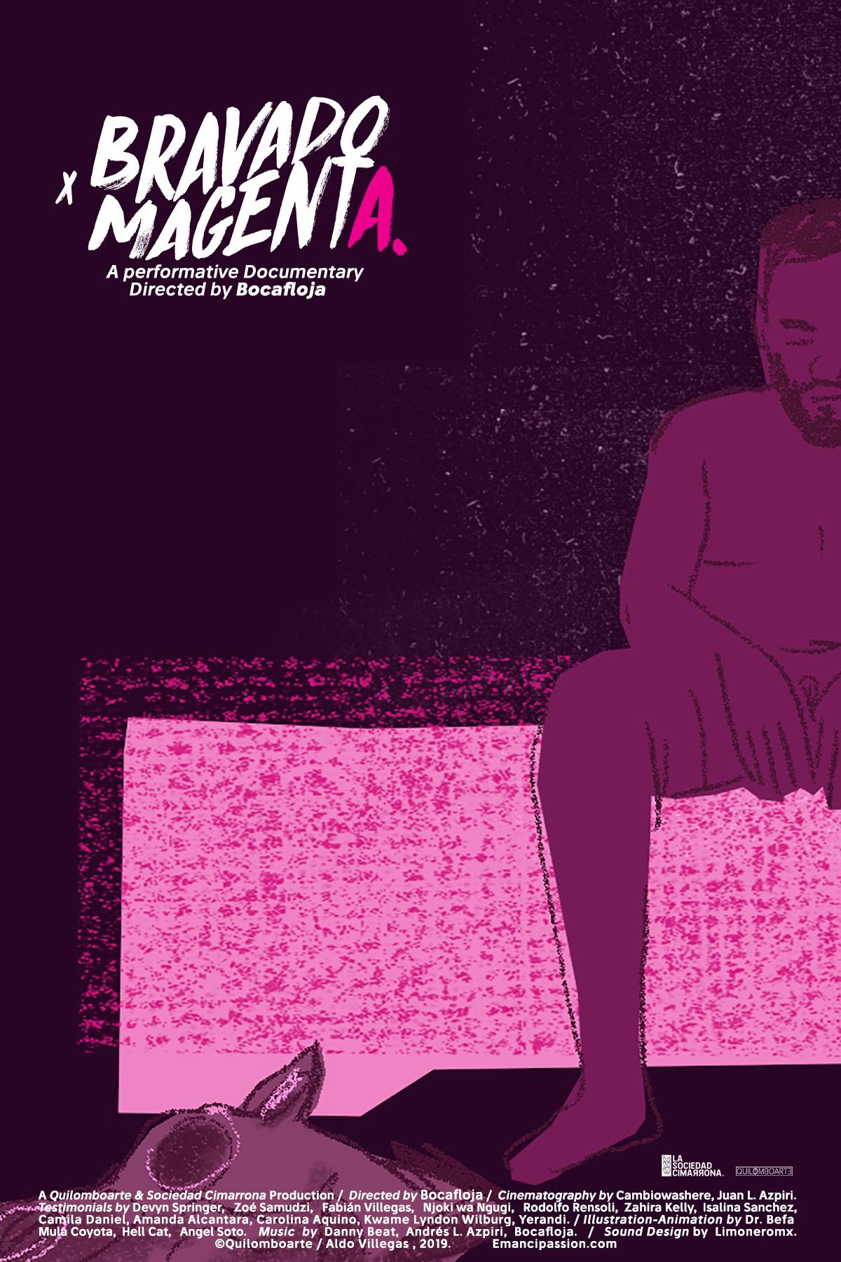 "Último trabajo de Bocafloja ""Bravado Magenta""."