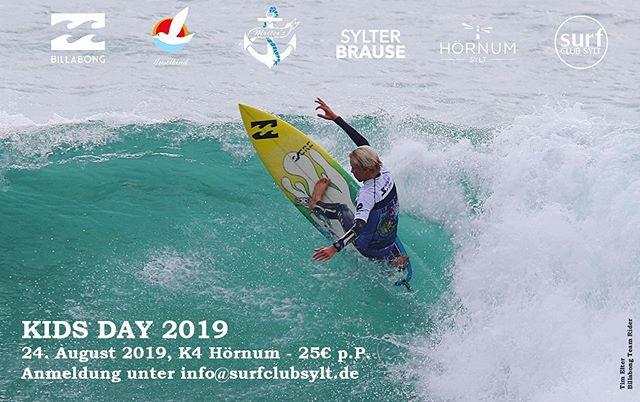 Der SCS KIDS DAY findet am kommenden Wochenende statt 🎉🤗! ~~~~~~~~~~~~~~~~~~~~~~~~~~ #scskidsday #surfclubsylt #vereinsleben #inselkind #billabong #moellersanker #sylterbrause #hörnum #surf