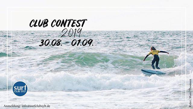 Am Freitag, den 30.8. ab 13 Uhr (Skippersmeeting und dann gehts direkt los) starten wir unseren Club Contest 2019. Im Idealfall sind wir, je nach Wellenlage, bis Sonntag mit allen Klassen durch. Teilnehmen können auch in diesem Jahr ausschließlich Mitglieder, Zuschauer/innen sind natürlich herzlich willkommen. :-) Surf Club Sylt Members können sich ab sofort per E-Mail an info@surclubsylt.de für folgende Kategorien anmelden: - Open Women - Open Men - Longboard Men - Open junior boys Ü14 - Open junior boys U14 - Open junior girls Bitte gebt Euren Namen, Alter (bei den Junioren), Tel.Nr. und in  welcher Klasse Ihr starten wollt, an.  Let's have some fun! __________________________________ #sylt #surfclubsylt #nordsee #clubcontest #summer #longboard #shortboard