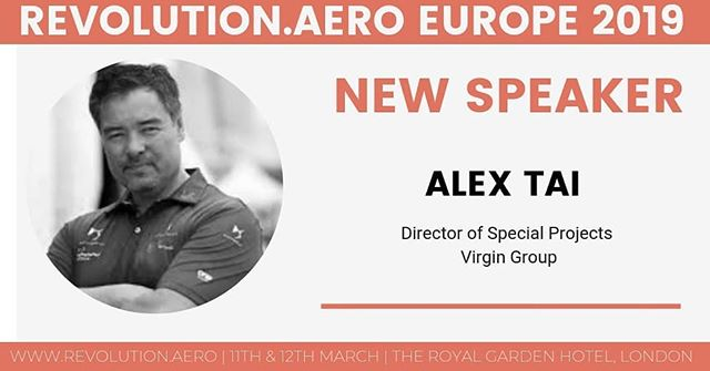 "Looking forward to discussing ""Why blockchain fits aviation"" with Alex Tai from Virgin Group at Revolution.Aero Europe conference on 11th and 12th March in London #revolutionaero #urbanairmobility"
