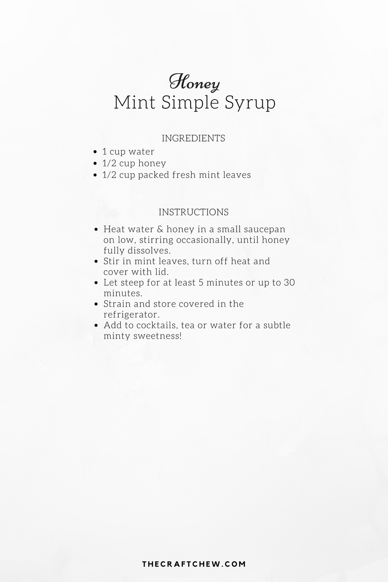 Honey Mint Simple Syrup