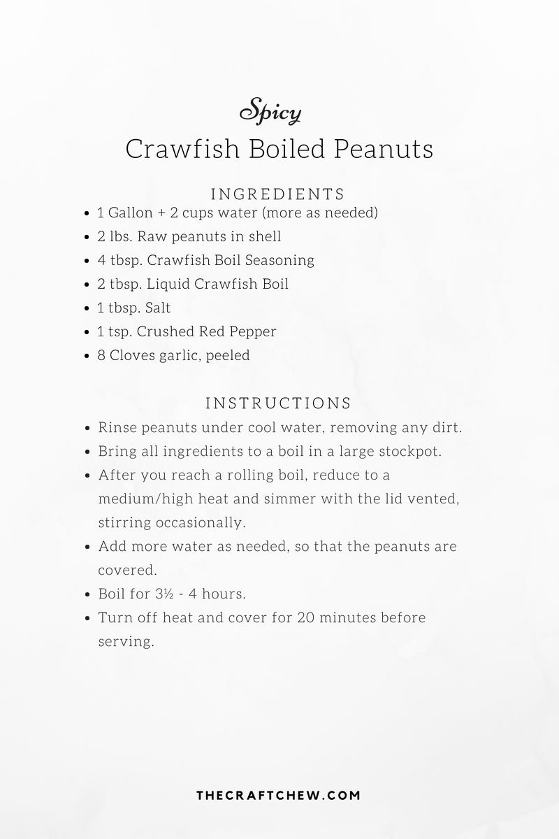 Spicy Crawfish Boiled Peanuts