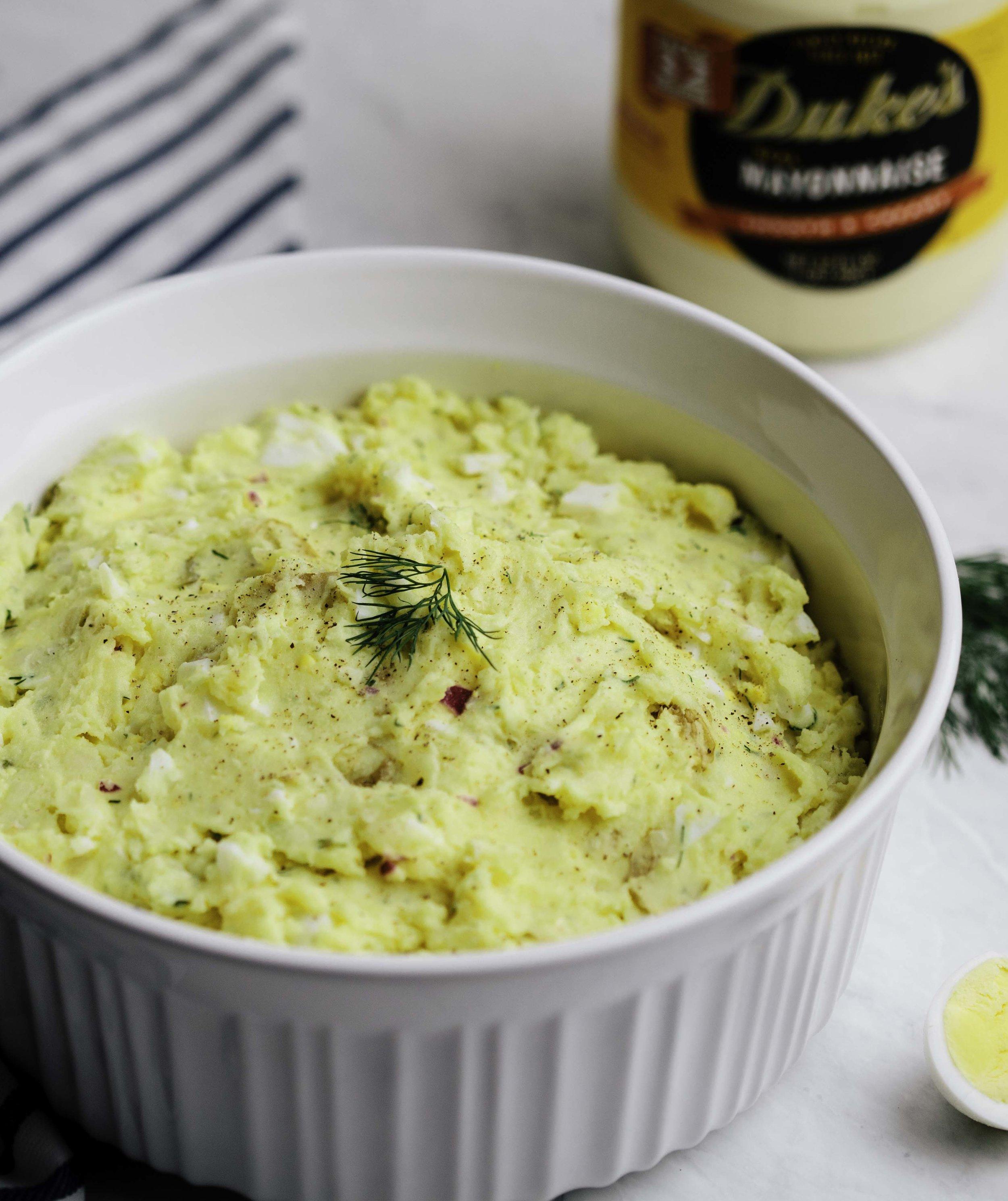 Smashed Dill Potato Salad
