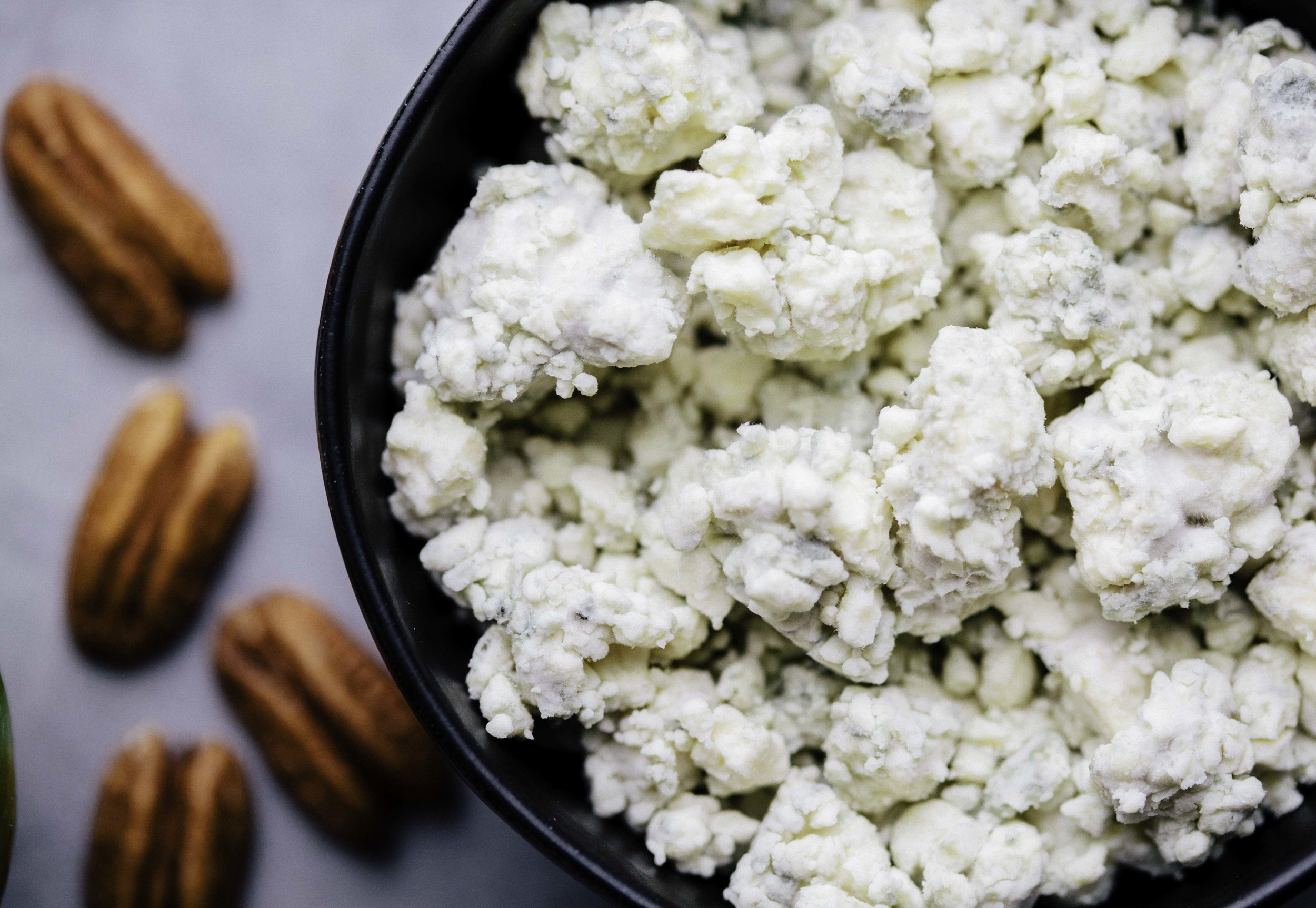 Funky blue cheese is equally loved and loathed. It's strong, pungent flavor definitely isn't for everyone! If you're not a fan of the stinky cheeses, try this salad with a mild, salty feta cheese instead.