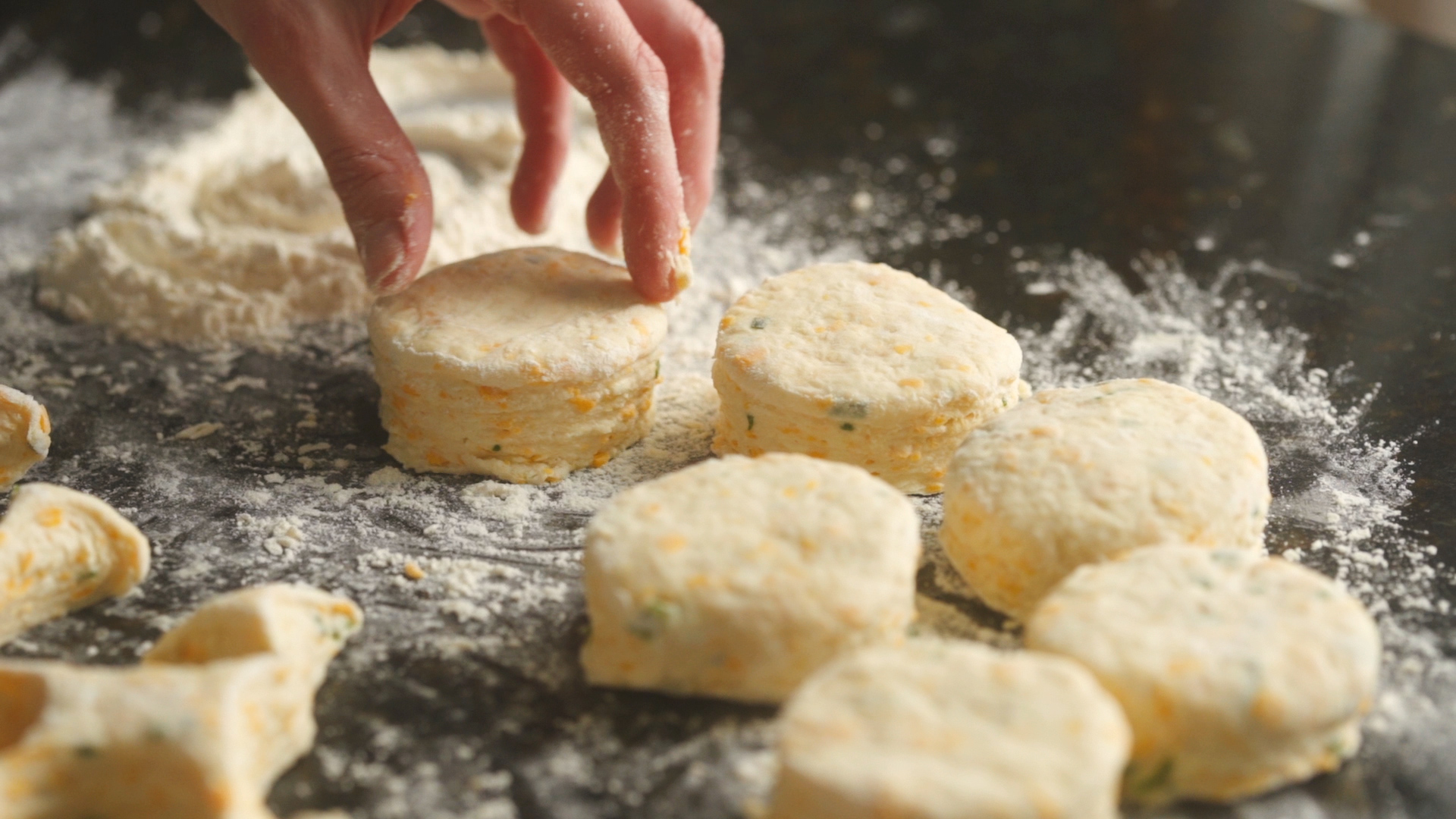 Cheddar Chive Biscuits_Biscuits Cut.jpg