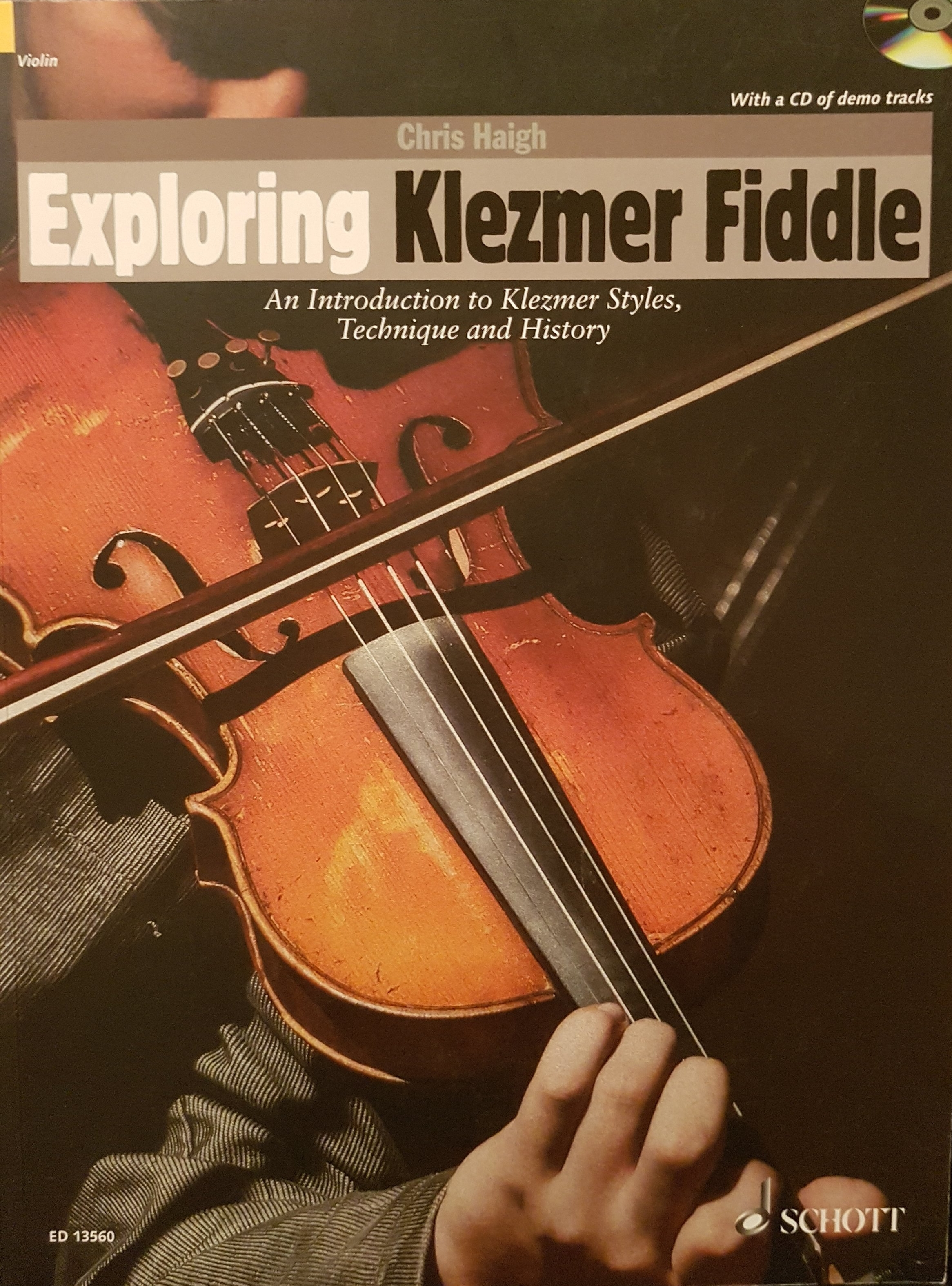 Exploring Klezmer Fiddle by Chris Haigh with Cd Schott publications 2015.jpg