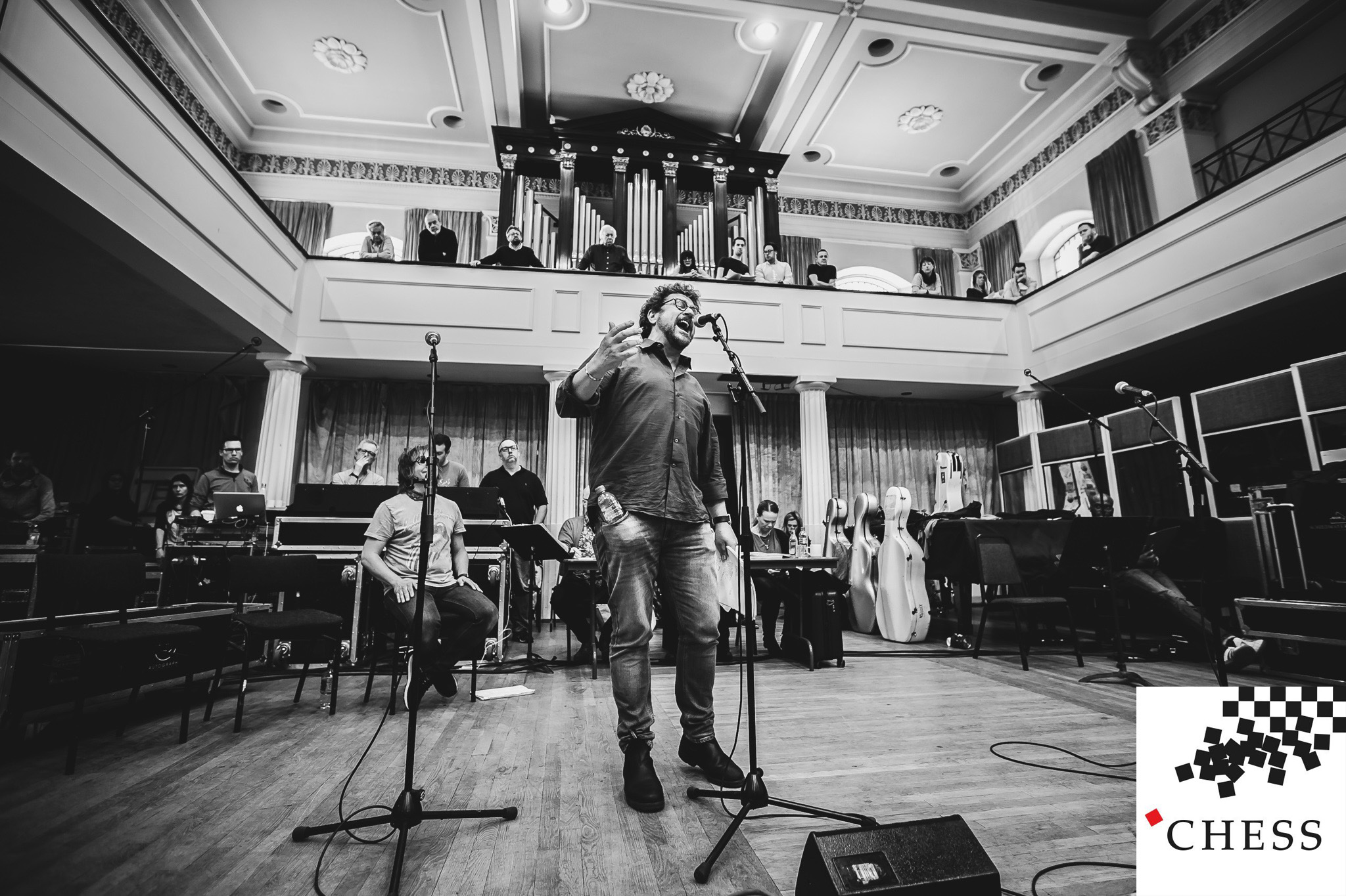 Michael Ball   rehearsing Anthem for   Chess the Musical  , The London Coliseum.