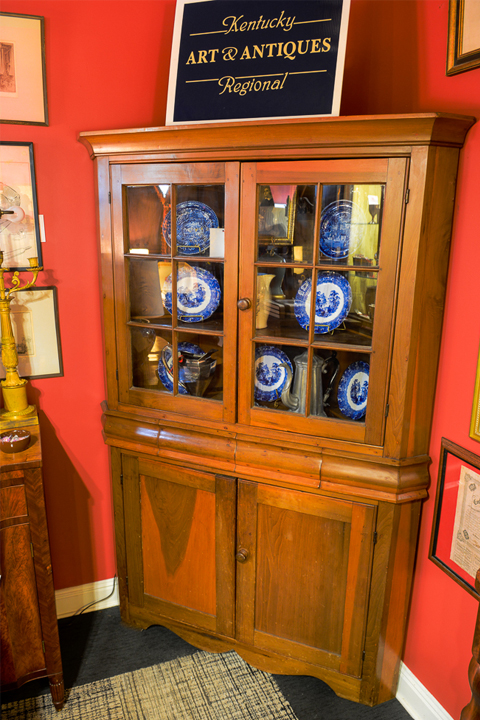 Poplar Corner Cupboard