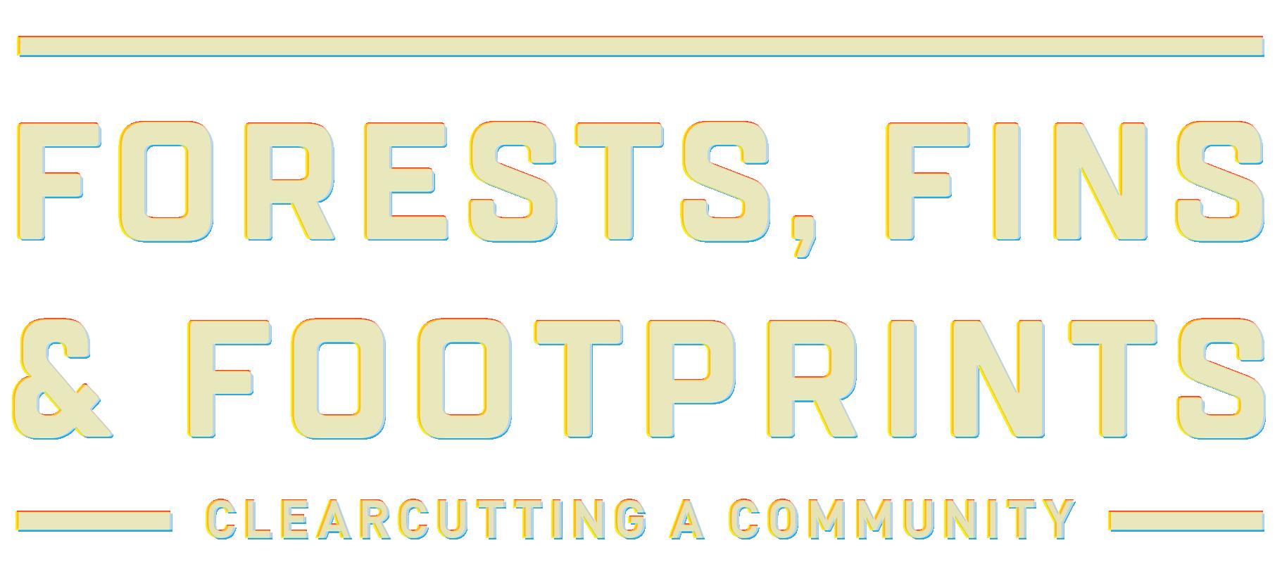 forests fins & footprints logo