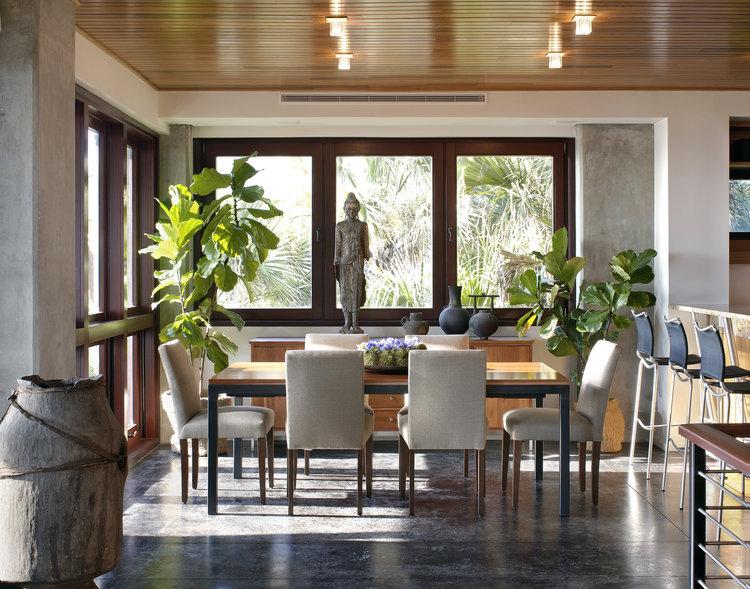 designmind asian fig leaf plant decor living room top interior designer in jacksonville