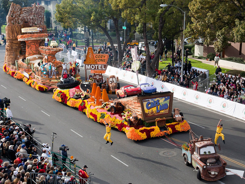 Pasadena Tournament of Roses Parade productions, floats and judging -