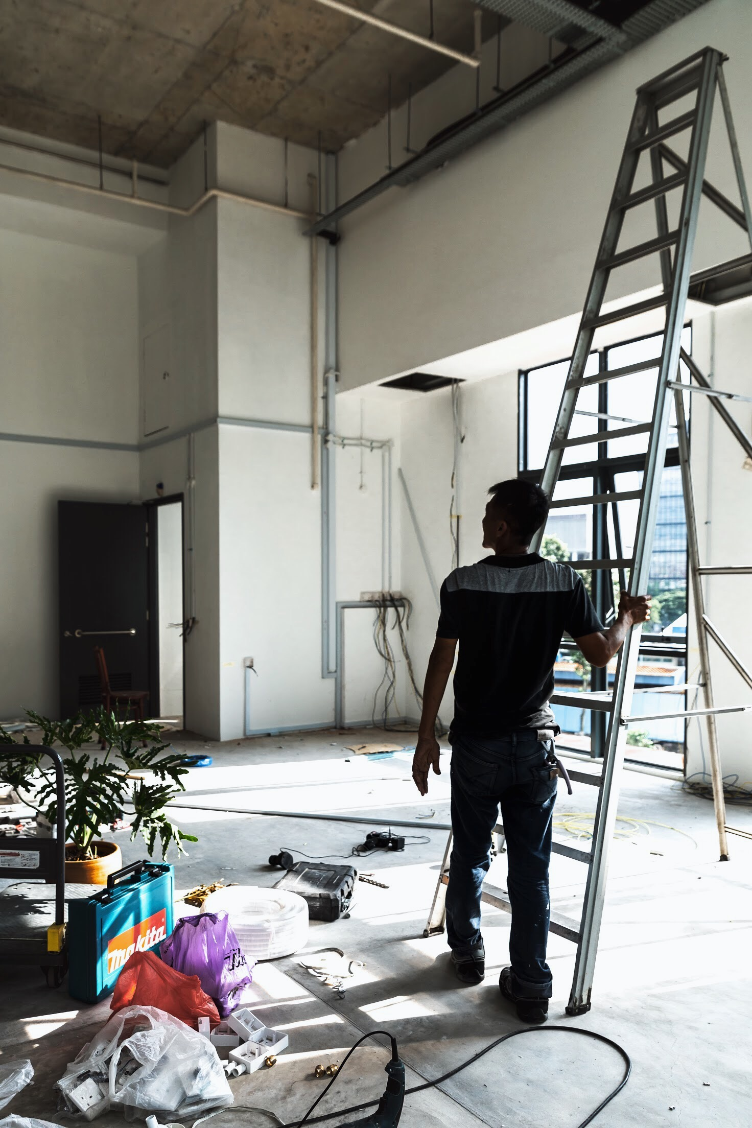 Renovation works at our studio