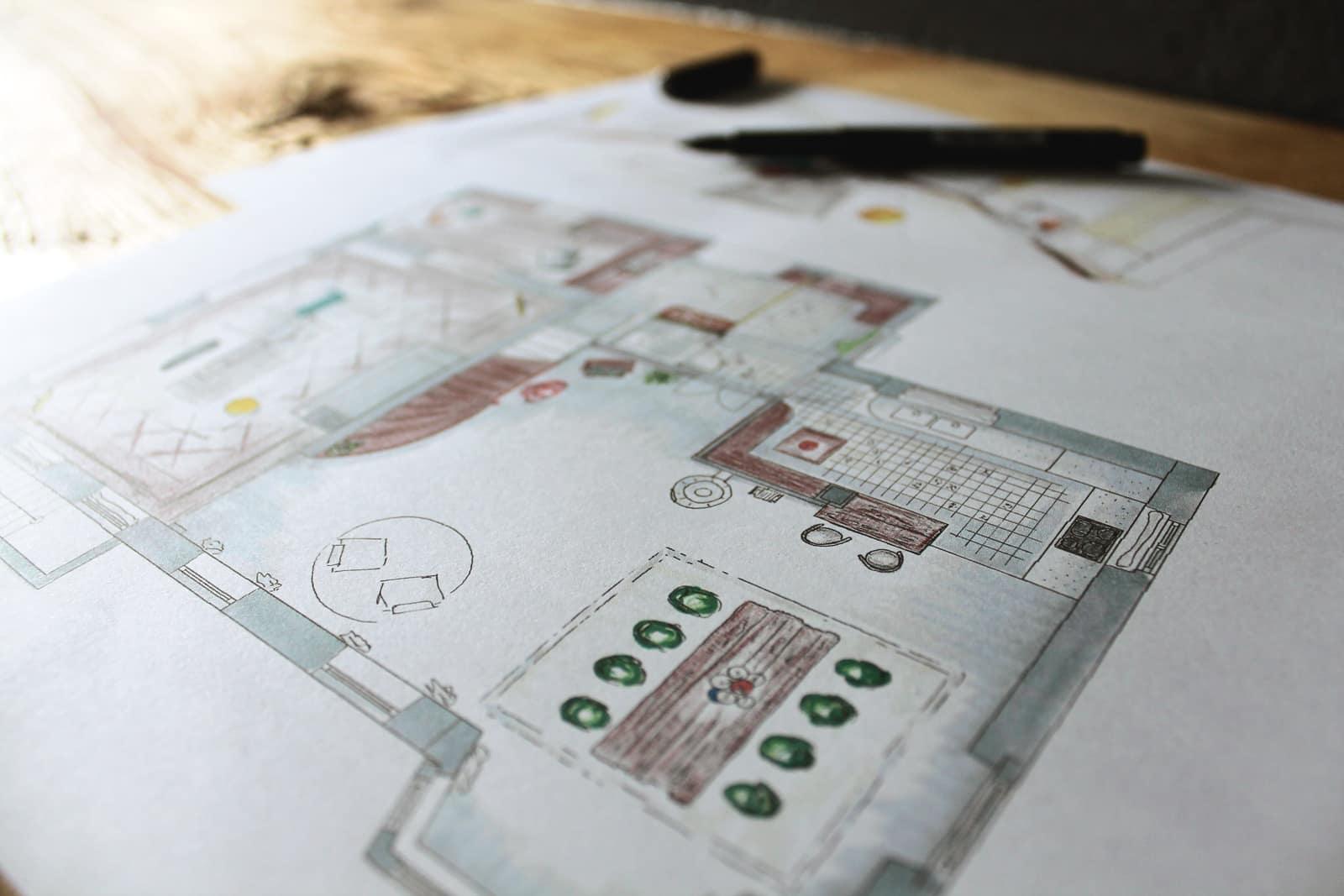 Vinval Interior Design Sketches