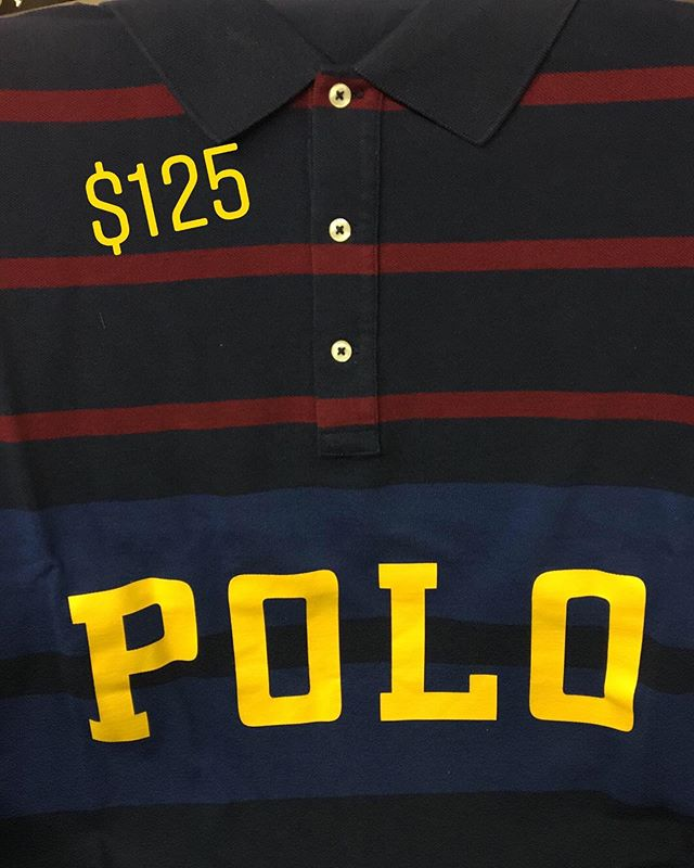 New #polo! #Restock polo. New merch; same great deal! Take $15 off any polo shirt w a collar (take $15 off the price pictured)-up to size 5XB. #shopsmall #downtownmacon #ralphlauren #polobear