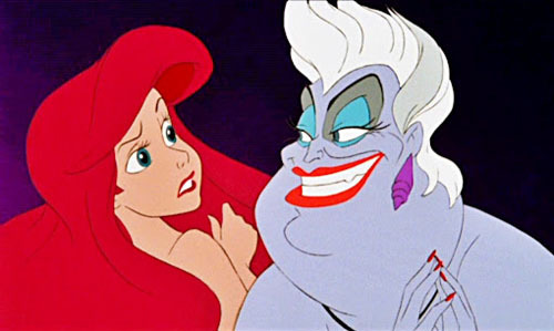 Trade-off - July 15th, 2019Life is a tragedy when seen in close-up, but a comedy in long-shot. Everything in life is a trade-off. In exchange for Ariel's voice, Ursula makes Ariel human.