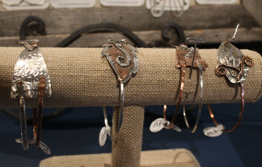 Silver and copper jewelry by Dana Pitzer