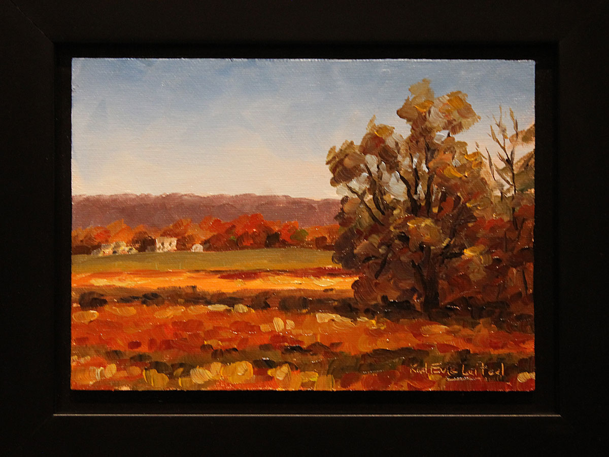 One of many new little 5x7 oil paintings by Karl Eric Leitzel