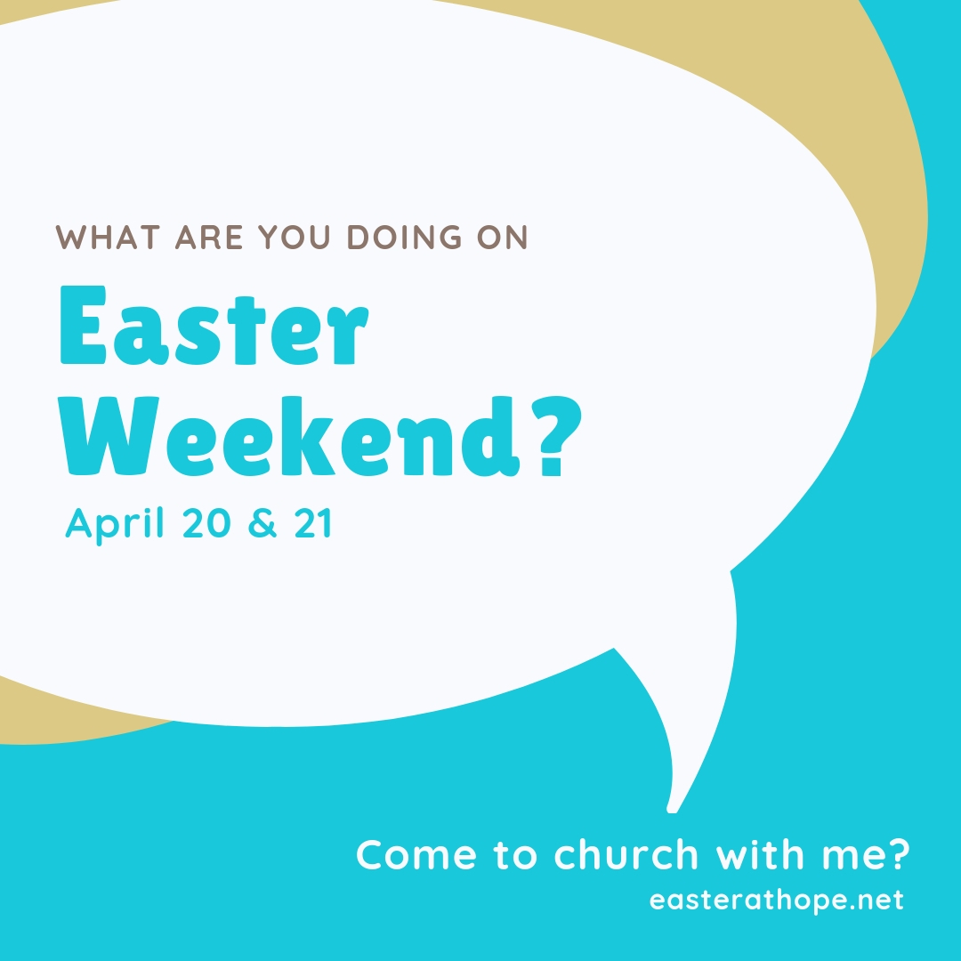 I would love to have you join me for Easter this year! Message me or go to easterathope.net to find out details and times. I hope you can make it! #easterathope