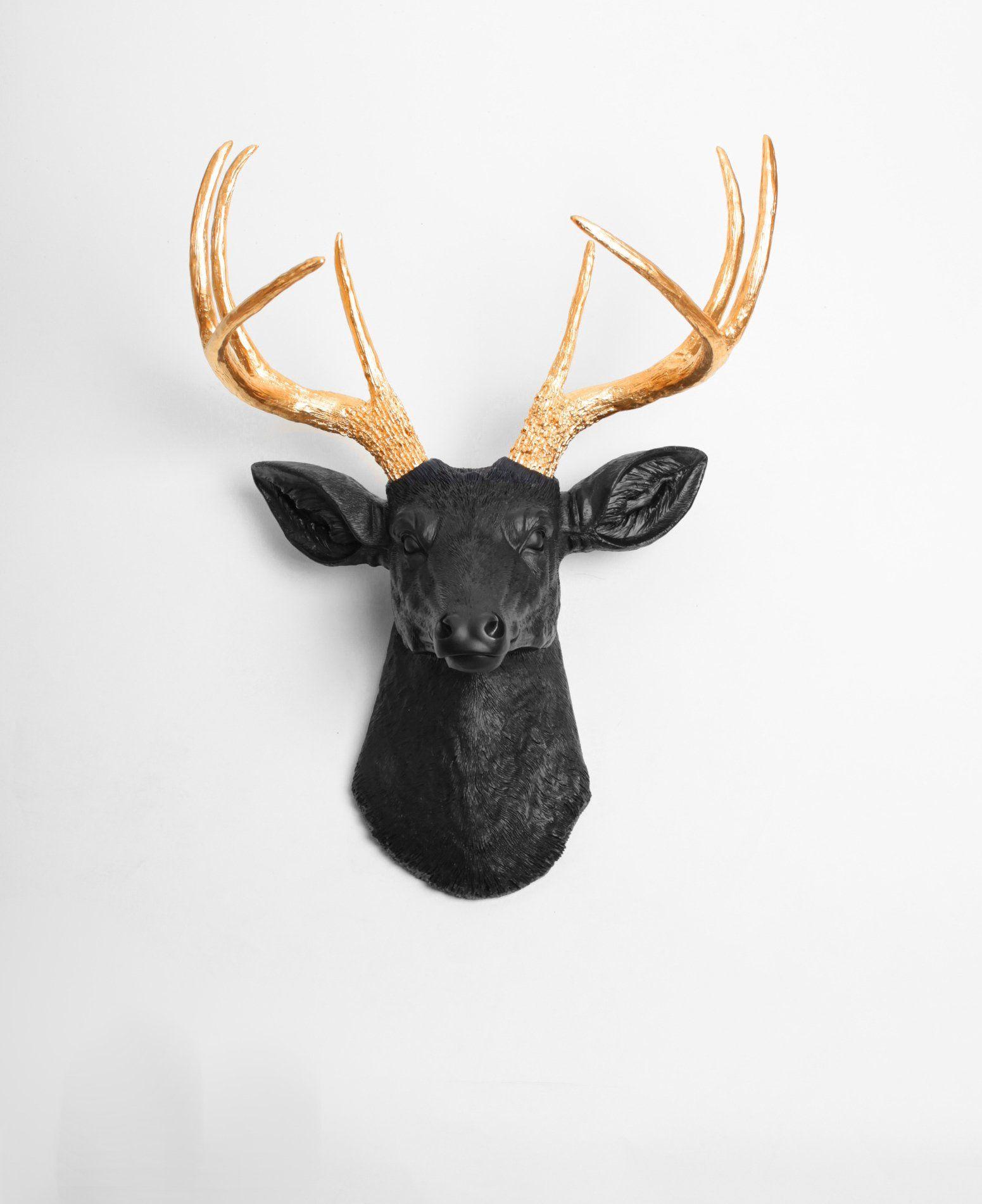 Black Faux Deer Head