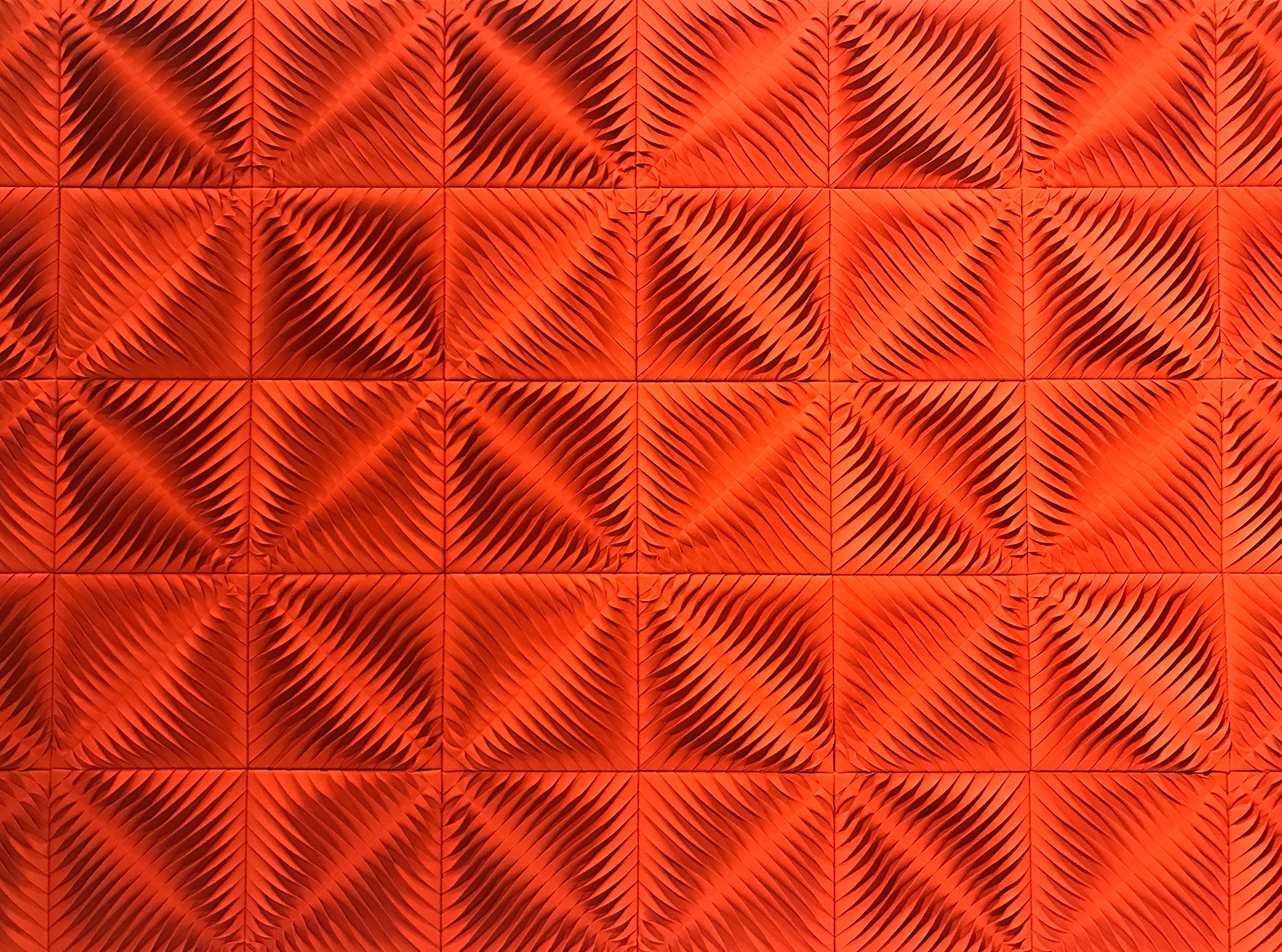 Photo of  Anne Kyyro Quinn's  Sculptural Felt Sound Panels, ICFF, New York 2018