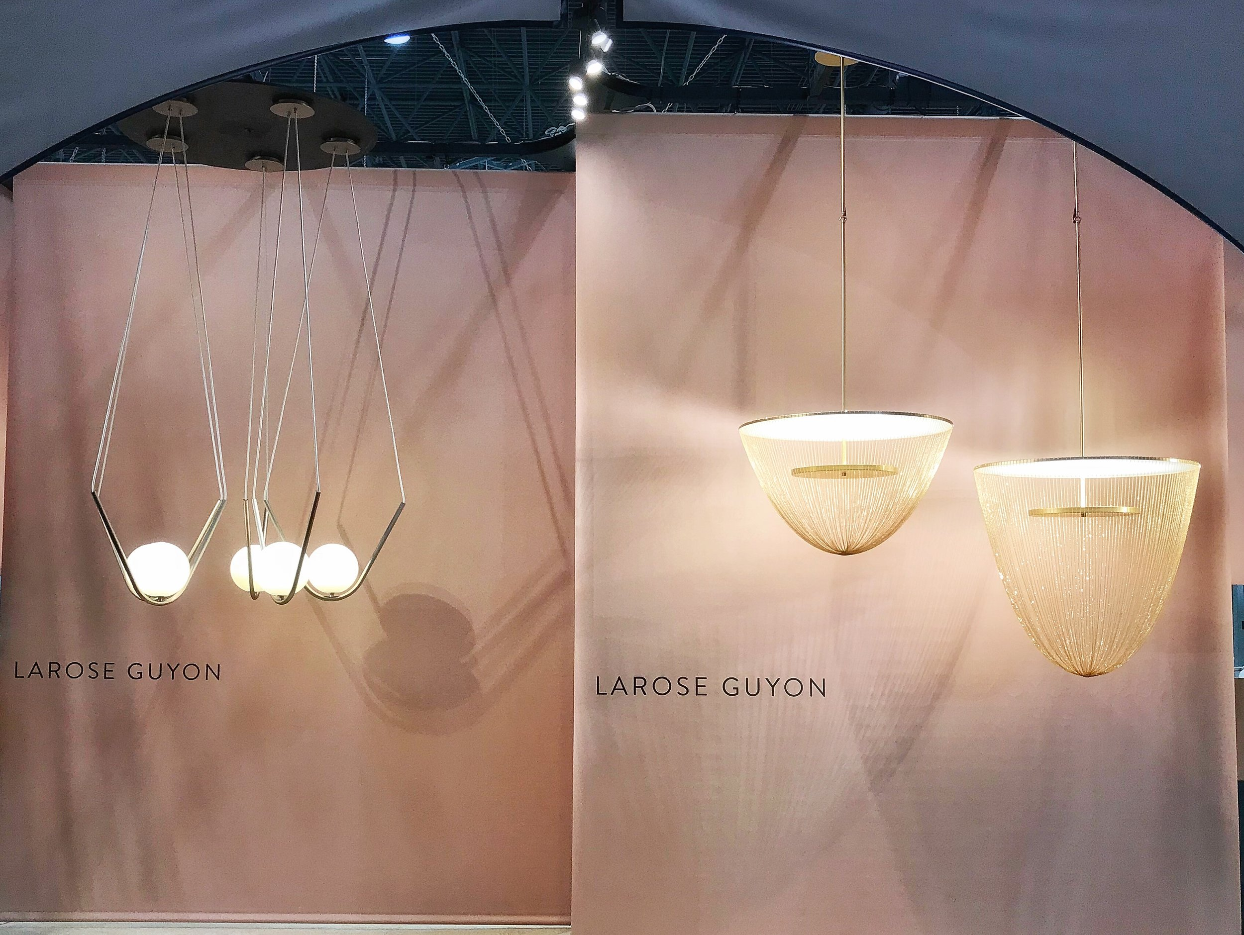 Photo of Larose Guyon's Perle 1 and Celeste Light, ICFF, New York 2018