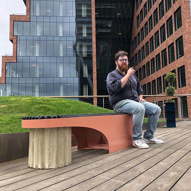 Williamsburg will never be the same... Debuting the new Jacesin Bench (it's pronounced Jason🤦♂️) this weekend at the William Vale Park!  Stop by for a sit and check out the work of other incredible designers.  #insideoutattwv #jacesinbench