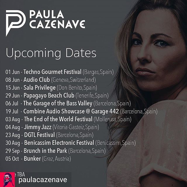 Reposted from @paulacazenave -  Próximas fechas confirmadas ¿Dónde nos vemos? 🔈. . Upcoming dates confirmed. More TBA. ¿Where will we meet? 🔈 . #gigs #events #summer #djgigs #techno #technodj #technoparties #technofestivals #festivals #summerfestivals